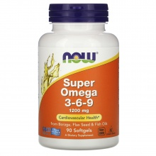 Антиоксидант NOW Super Omega 3 -6-9 1200 мг 90 кап